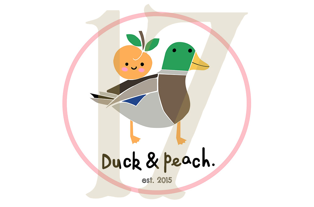 duck and peach